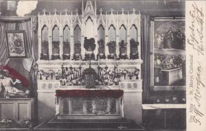 Interior; The Altar - St Mary's Cathedral , SYDNEY , Australia , PU-1908