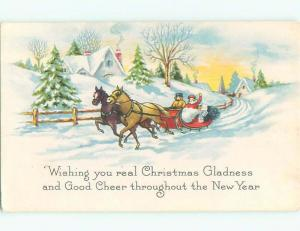 Divided-Back CHRISTMAS SCENE Great Postcard W9357