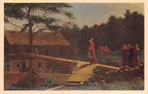 Artist Post Card The Morning Bell - Winslow Homer Stephen C. Clar...
