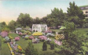 Maine Ogunquit The Lookout Hotel Terrace Garden And Garden Of the Pines Alber...