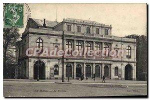 Old Postcard Le Mans Le Theater