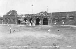 Auburn Nebraska Municipal Pool Real Photo Antique Postcard K18761