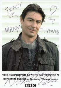 Nathaniel Parker The Inspector Lynley Mysteries Hand Signed Cast Card Photo