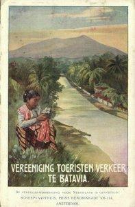indonesia, JAVA BATAVIA, Tourist Traffic Association (1918) Postcard