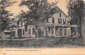 Deerfield New York~Governor Seymours Home~With Wife 1906 UDB