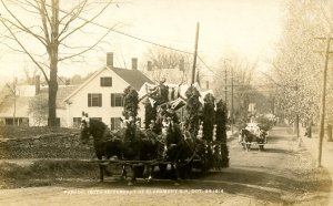 NH - Claremont. 150th Anniversary Parade on Sullivan St, October 26, 1914. *RPPC