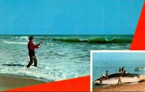 Massachusetts Cape Cod Surf Fishing For Striped Bass