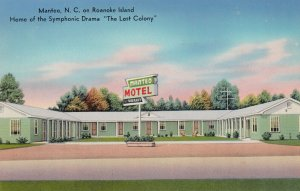 MANTEO, North Carolina, 50-60s, Manteo Motel