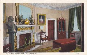 Virginia Mount Vernon The Family Dining Room Curteich