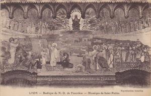 France Lyon Basilique de Notre Dame de Fourviere Mosaique de Saint-Pothin