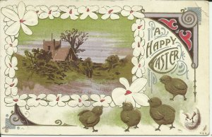 A Happy Easter---Embossed