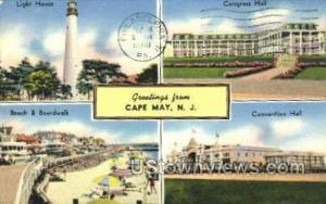 Greetings From  Cape May NJ 1950