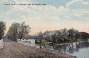 Wisconsin La Crosse Pettibone Park Lagoon Bridge Curteich