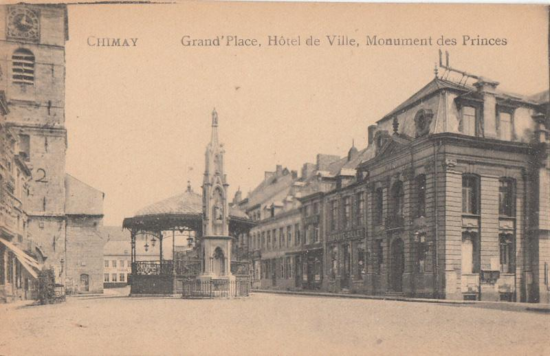 CHIMAY BELGIUM GRAND PLACE HOTEL DE VILLE MONUMENT DES PRINCES