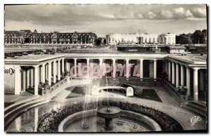 Postcard Modern Fleurie Deauville Beach Casino and the Normandy Hotel des Bai...