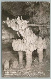Stanton Missouri~Wine Table Meramee Caverns~Real Photo Postcard~RPPC