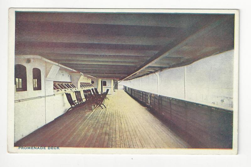 Vintage USA Postcard - Promenade Deck, United Fruit Co's SS Atenas (AG15)