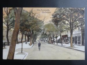 CHELTENHAM The Parade shows CARROLL FROGMORE HOUSE SHOP c1917 by Dodwwell & Sons