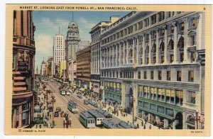 San Francisco, Calif., Market St. Looking East From Powell St.