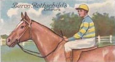 E & W Anstie Vintage Cigarette Card Racing Series No 19 Baron Rothschilds Col...