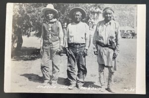Mint USA RPPC Real Picture Postcard Native American Indian Apache Men Arizona