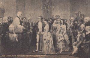 Marriage of George Washington & Mrs Custis , 00-10s