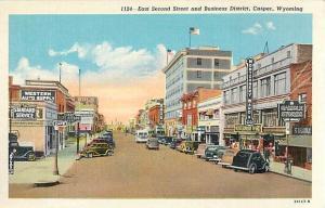 Linen Card of East Second Street & Business District Casper