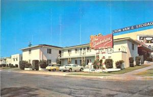 San Diego CA Berkshire Motor Hotel Lyon Van & Storage Billboard Postcard