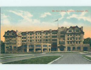 Divided-Back HOTEL SCENE Excelsior Springs - Near Kansas City Missouri MO H1340