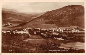 Aberdeenshire Scotland Braemar View Real Photo Antique Postcard K10357