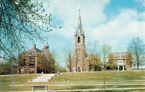 Postcard St. Marie's Church, Manchester, NH