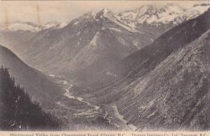 Illicillewaet Valley From Observation Point, Glacier, British Columbia, Canad...