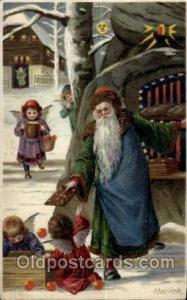 Green Robe, Hold To Light, Santa Claus, Chirstmas, Postcard Postcards  Hold t...