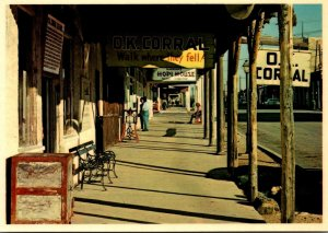 Arizona Tombstone Looking Up Covered Boardwalk In Front Of Famous O K Corral