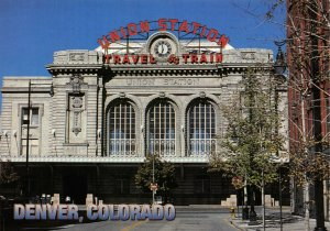 USA Postcard, Union Train Railway Station, Denver, Colorado GH7