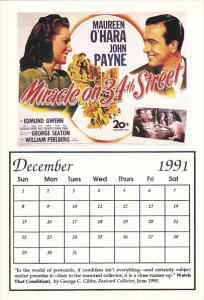 1991 Movie Poster Calendar Series December Miracle On 34th Street