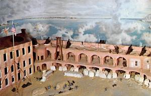 Civil War Post Card Old Vintage Antique Postcard Fort Sumter, Charleston, SC ...