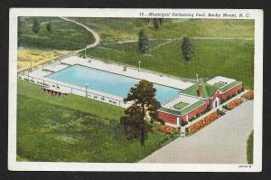 Birds-Eye View Municipal Swimming Pool Rocky Mount North Carolina Used c1943