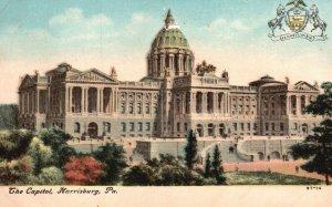 Harrisburg, Pennsylvania, PA, State Capitol, 1908 Vintage Postcard g8998