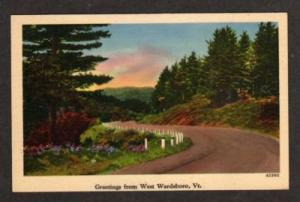 VT Greetings from WEST WARDSBORO VERMONT Postcard PC