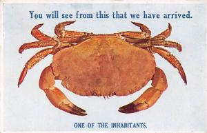 Crab You will see from this that we have arrived One of the Inhibitants 1930