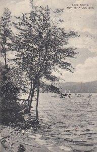 NORTH HATLEY, Quebec, Canada, PU-1920; Lake Scene, Sail Boats