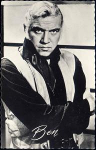 BONANZA Movie Star Postcard, Ben Cartwright, Actor Lorne Greene (1960s) RPPC (7)