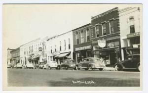 Hartford MI Street Vue Vintage Store Fronts Drug Store RPPC Real Photo Postcard