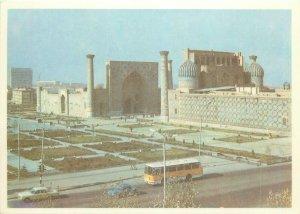 Uzbekistan Samarkand registan square monument architecture Postcard