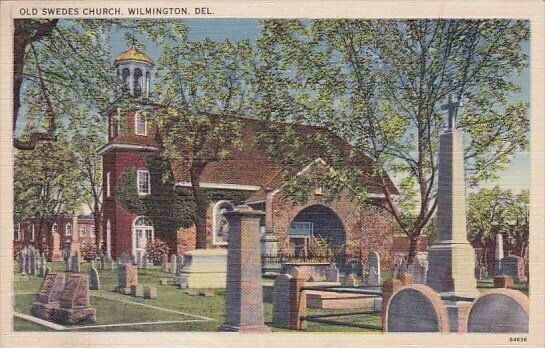Old Swedes Church And Cenetery Wilmington Delaware 1940
