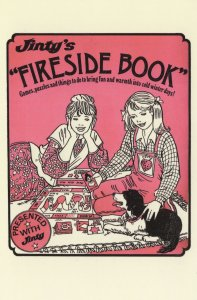 Jinty Cluedo Type Board Game 1970s Comic Book Postcard