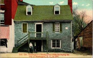 Vtg 1910s George Washington Headquarters While Surveying City DC Postcard