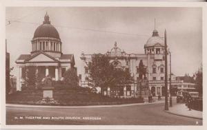 Aberdeen Theatre South Church Scottish Real Photo Postcard