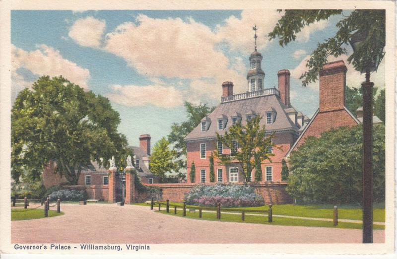 GOVERNOR`S PALACE WILLIAMSBURG VIRGINIA
